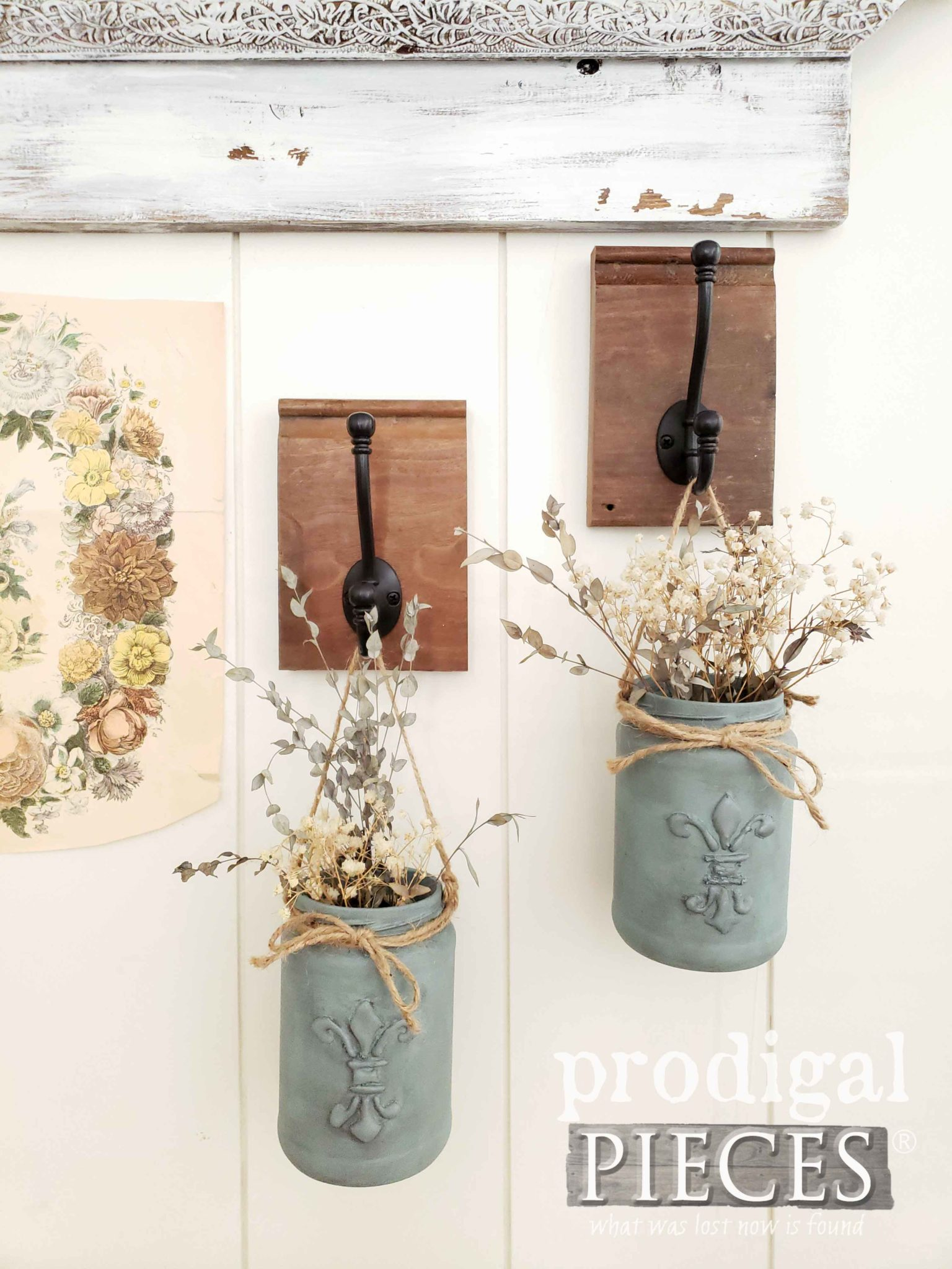 DIY Upcycled Jar Hangers Made from Repurposed Finds by Larissa of Prodigal Pieces | prodigalpieces.com