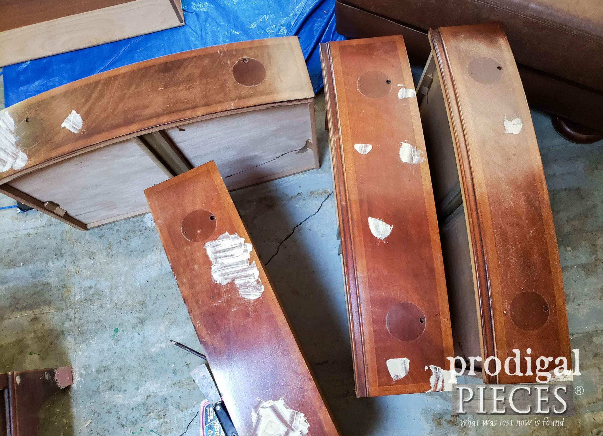 Drawer Fronts with Wood Filler | prodigalpieces.com