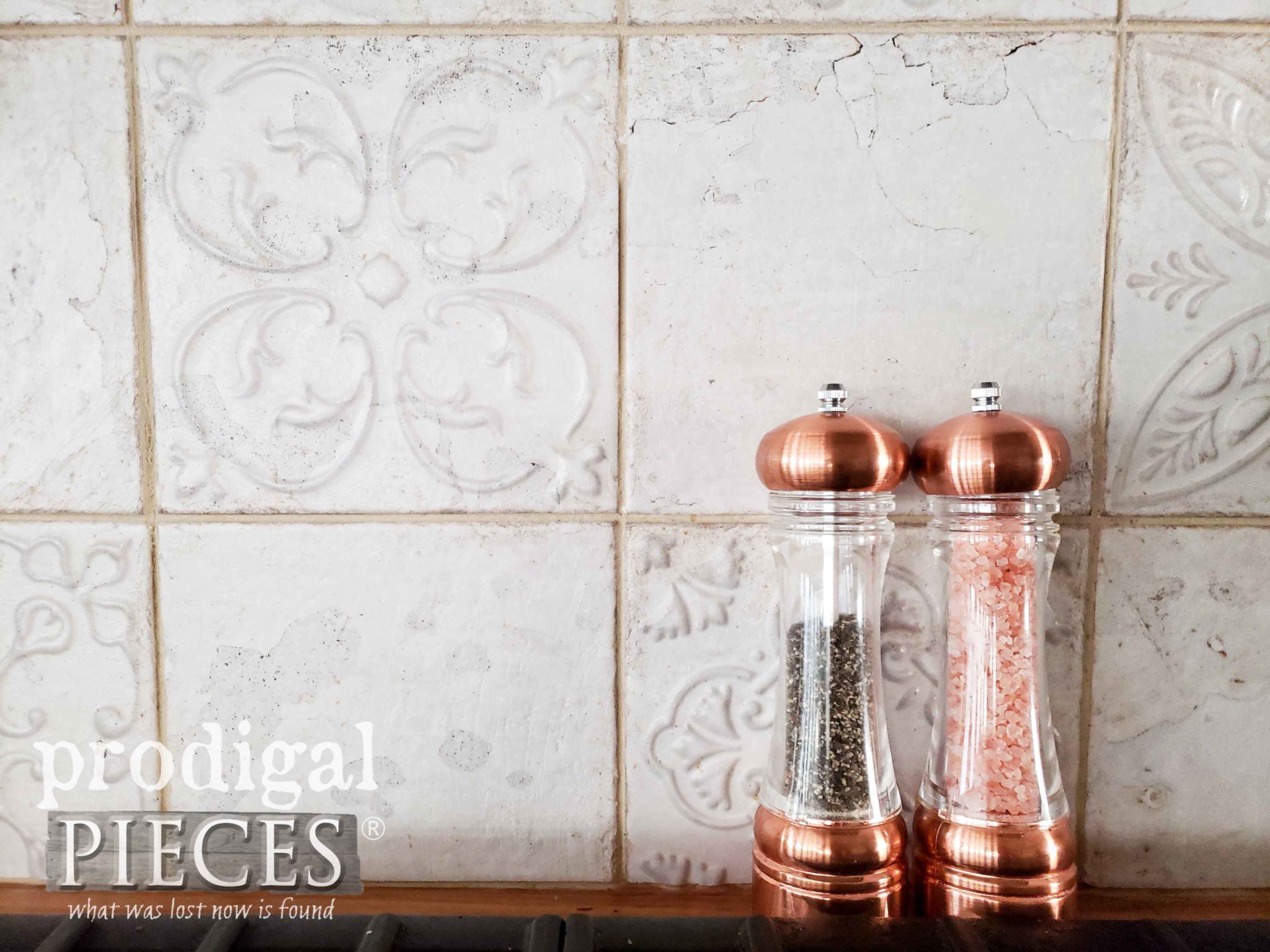 Old World Style Embossed Tile for Farmhouse Kitchen and Bath by Prodigal Pieces | prodigalpieces.com