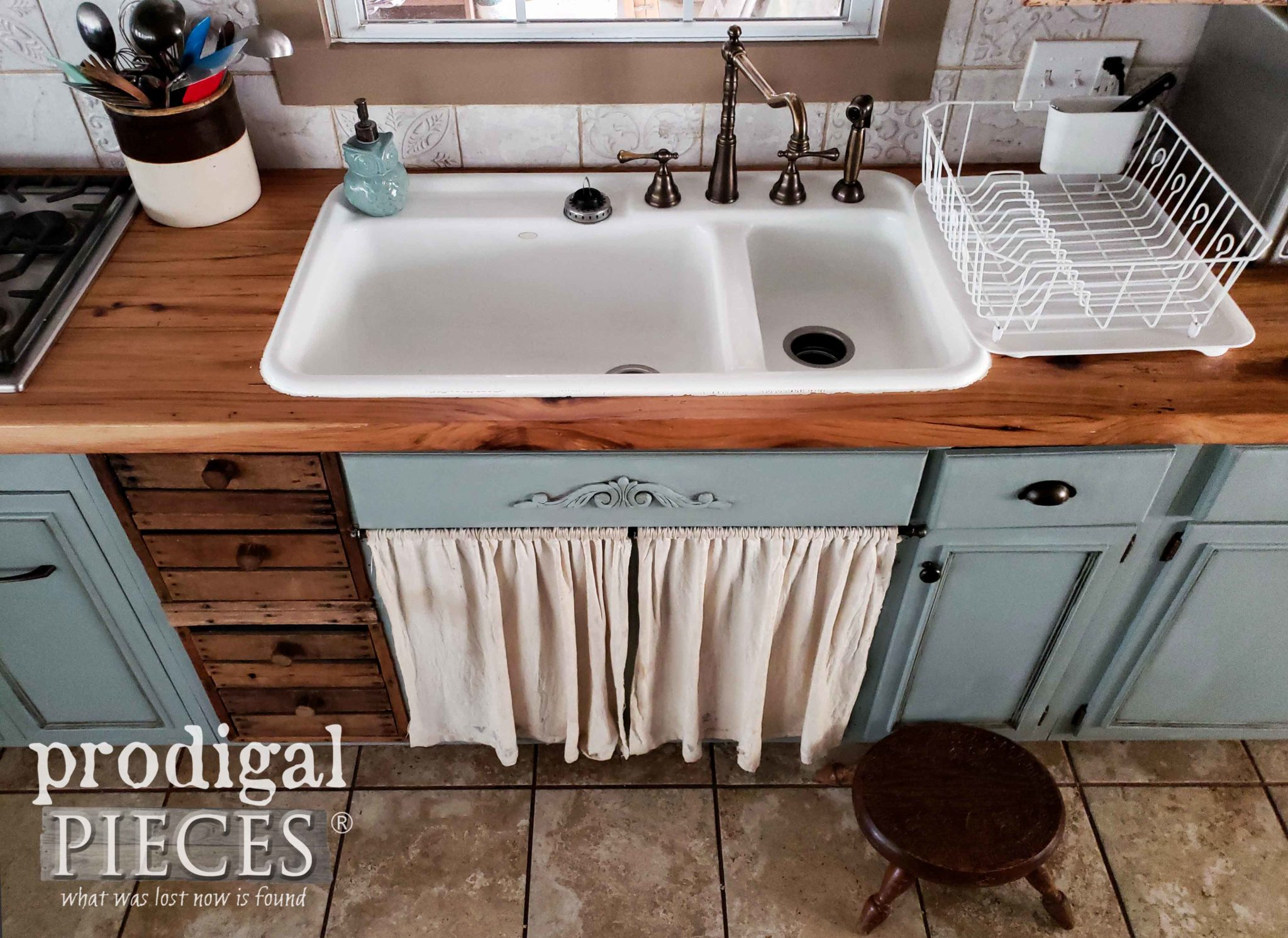 Farmhouse Sink with Apron Skirt | Design by Larissa of Prodigal Pieces | prodigalpieces.com