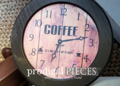 Featured DIY Clock Face Table by Larissa of Prodigal Pieces | prodigalpieces.com