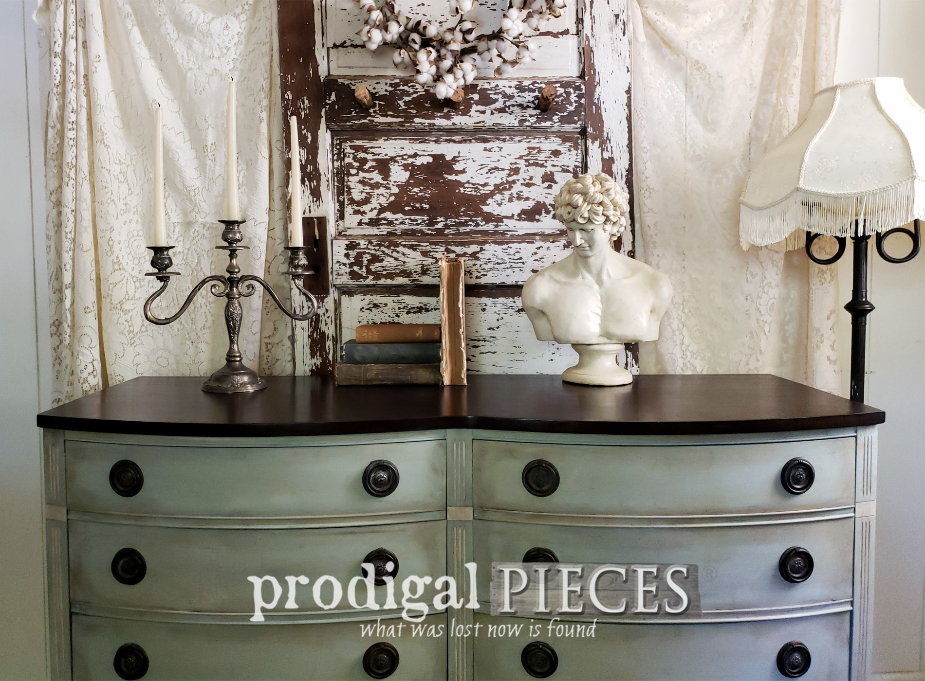 Vintage Dixie Dresser Gets Frottage Makeover Giving it Style and Texture | by Prodigal Pieces | prodigalpieces.com