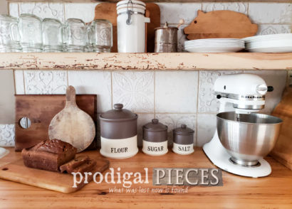 Featured Farmhouse Kitchen Canisters with DIY Tutorial by Larissa of Prodigal Pieces | prodigalpieces.com