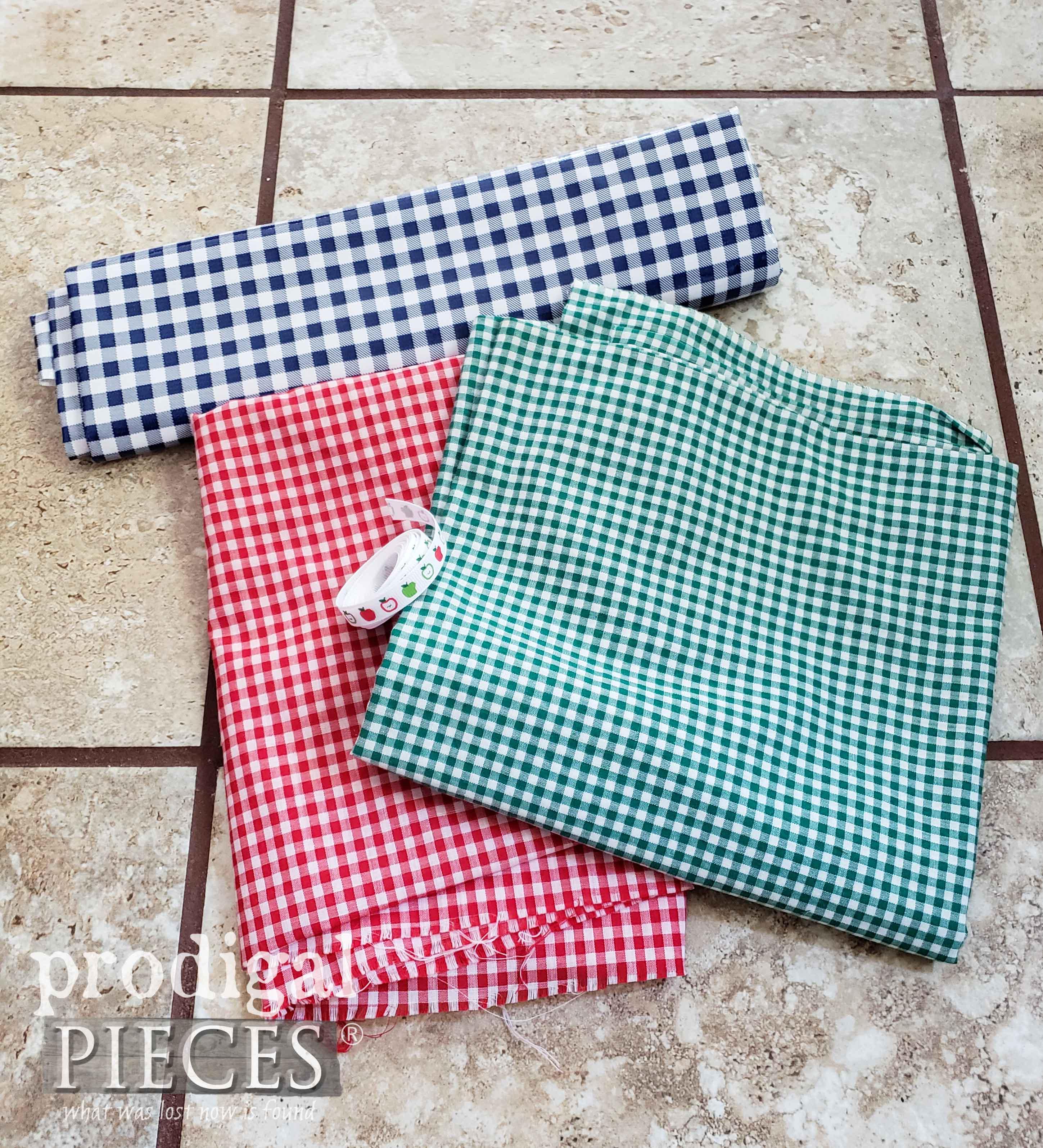 Red, Blue, and Green Gingham Fabrics | prodigalpieces.com