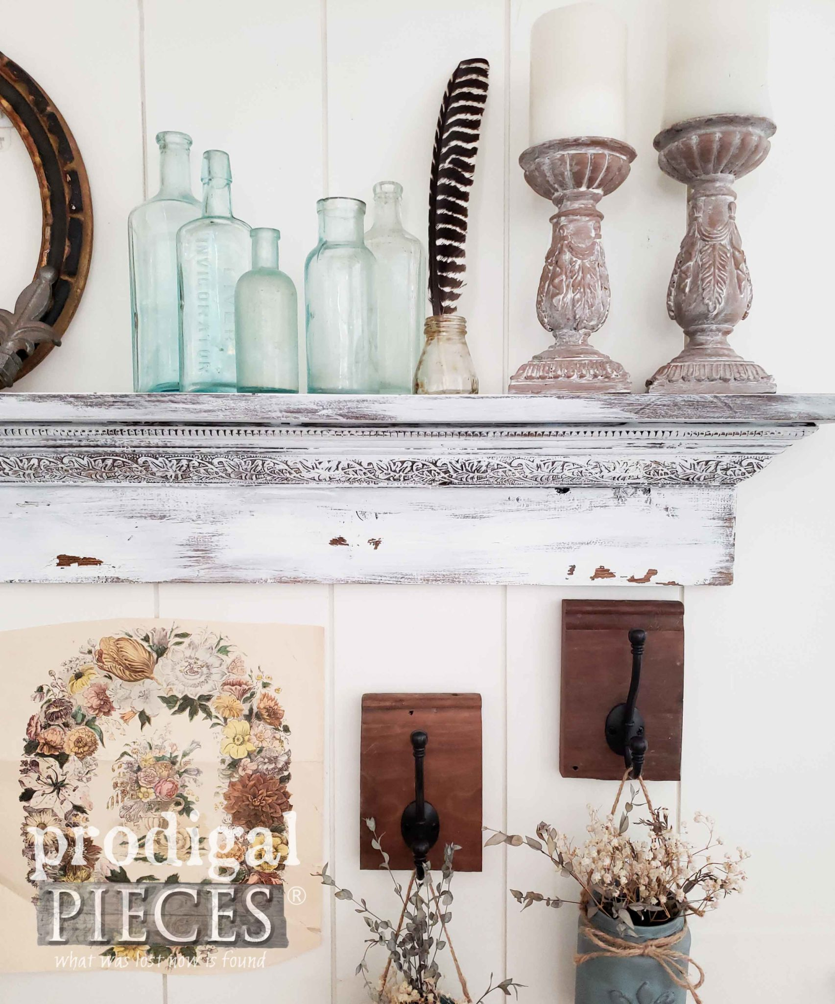 Handmade Rustic Mantel created by Larissa of Prodigal Pieces | prodigalpieces.com
