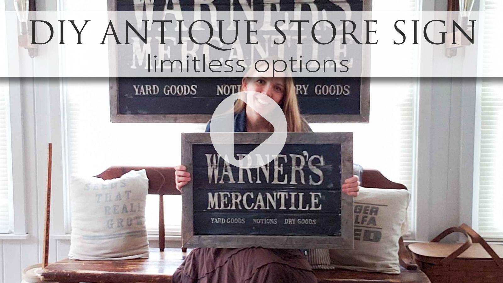 DIY Video Tutorial for Antique Store Sign by Larissa of Prodigal Pieces   prodigalpieces.com #prodigalpieces