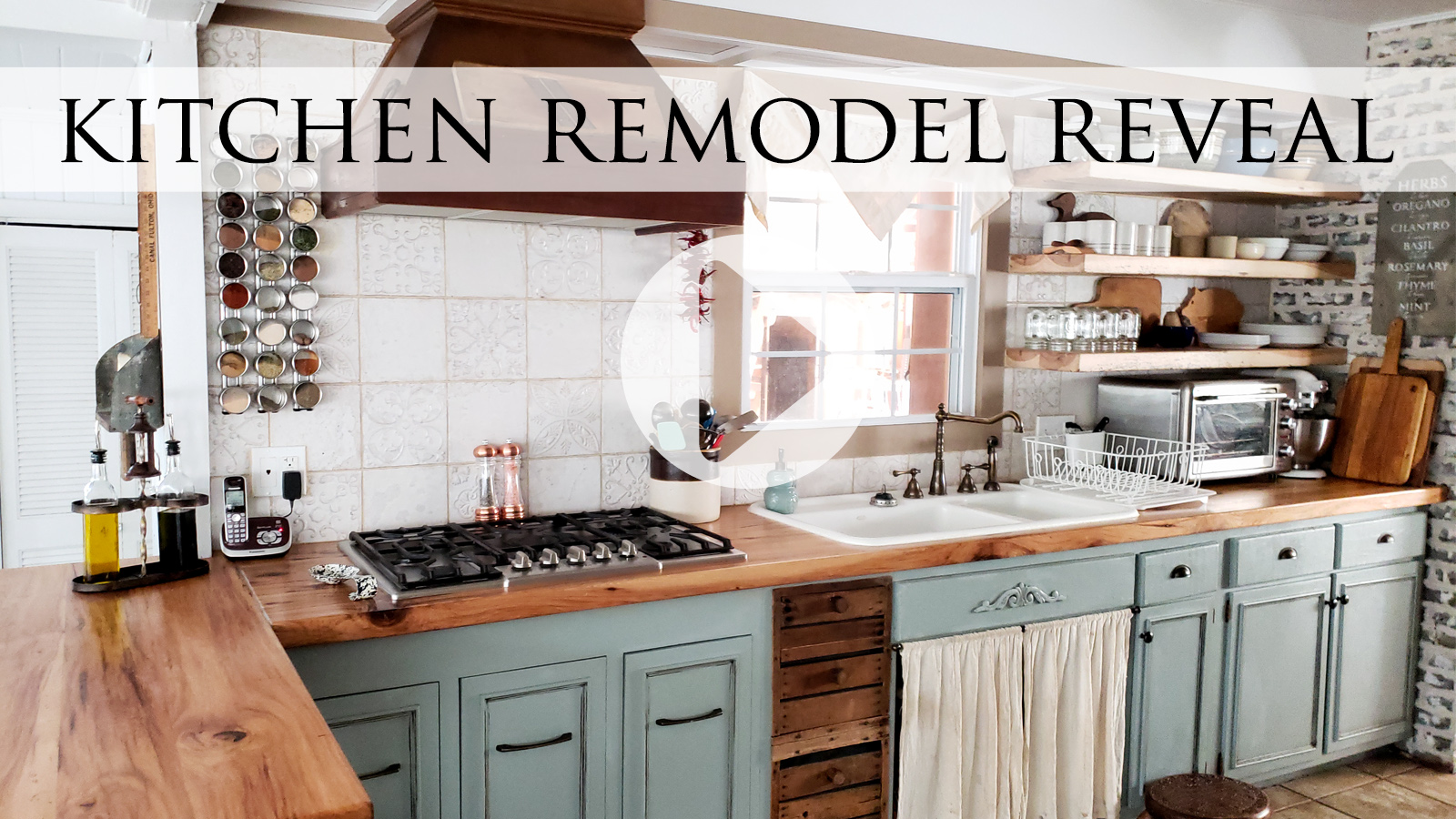 Video Tour of Larissa of Prodigal Pieces Farmhouse Kitchen Remodel Reveal | prodigalpieces.com #prodiaglpieces