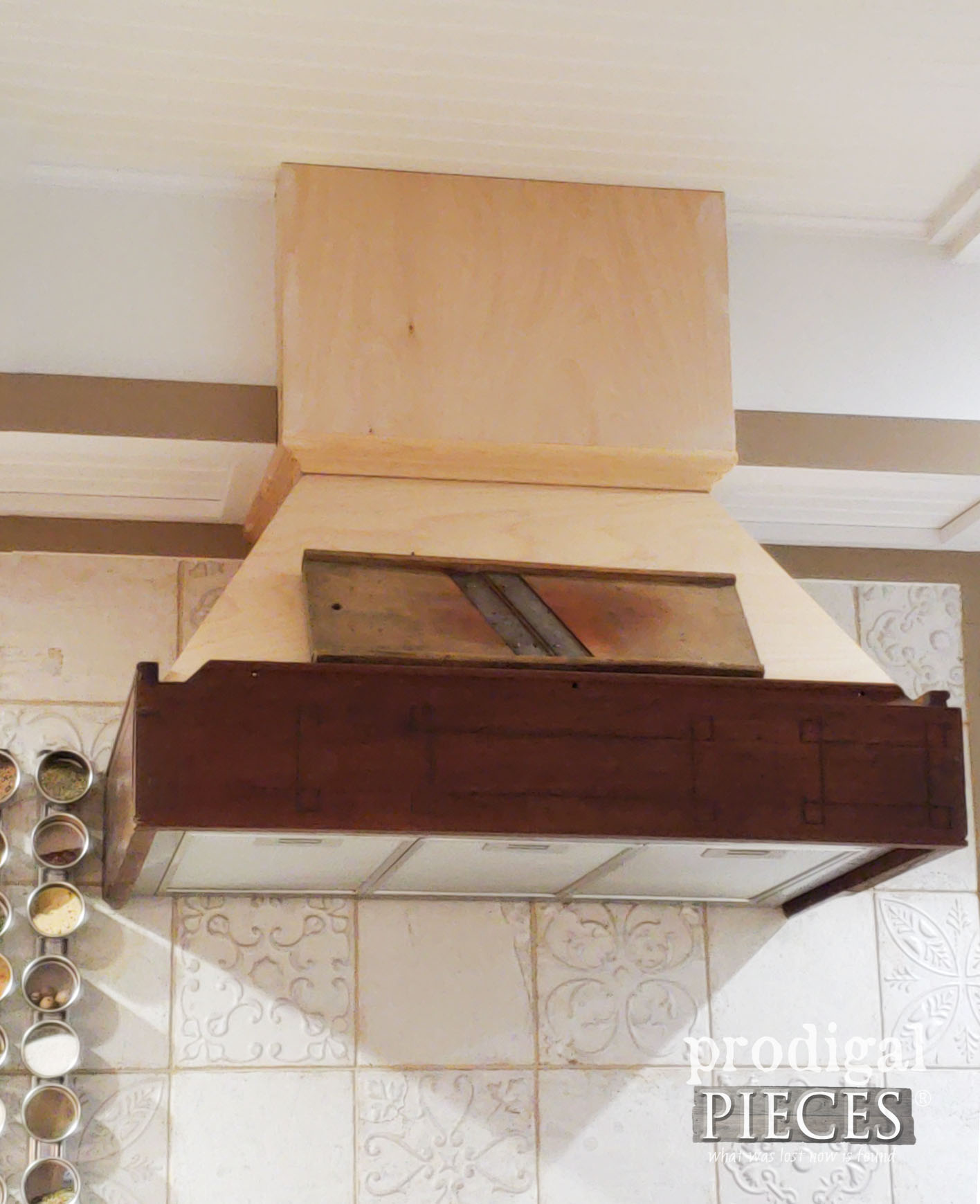 Range Hood Custom Build for Farmhouse Kitchen Remodel | prodigalpieces.com