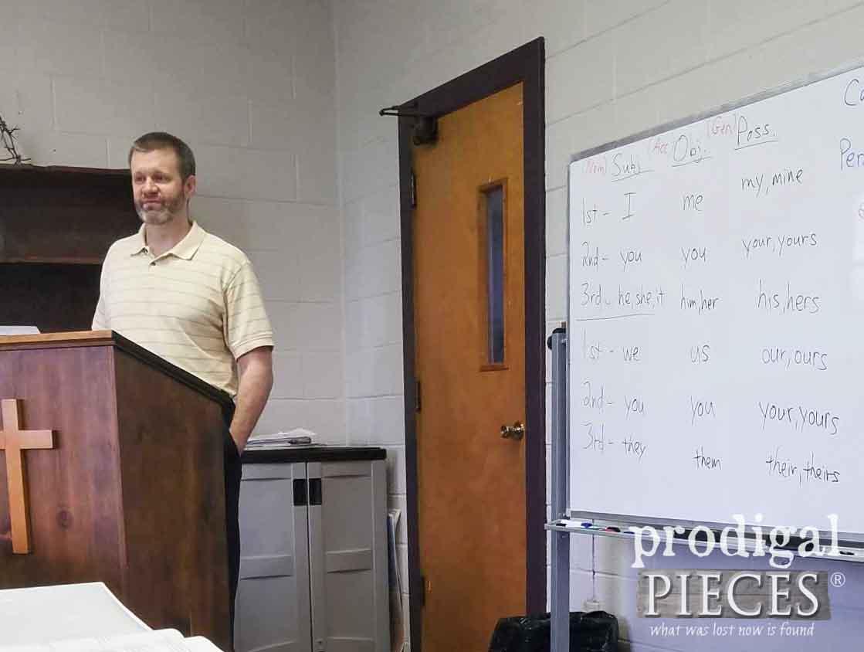 JC Teaching his Greek Class to Students   prodigalpieces.com