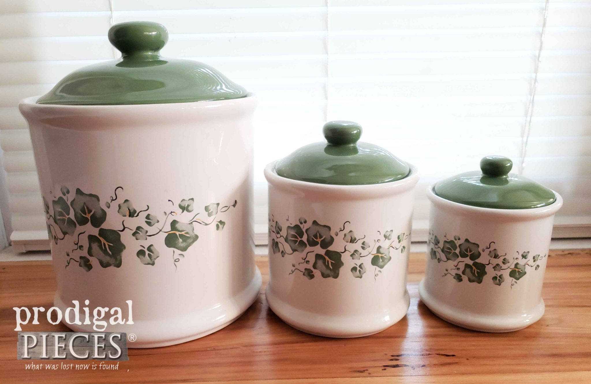 Kitchen Canister Set with Ivy | prodigalpieces.com