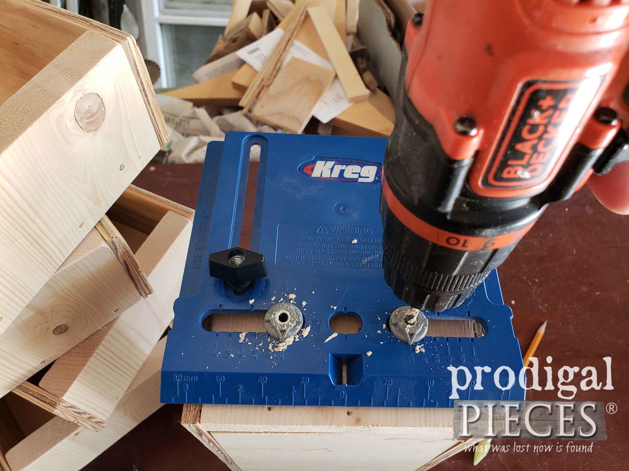 Kreg Drawer Pull Jig Makes Adding Drawer Pulls a Breeze | prodigalpieces.com