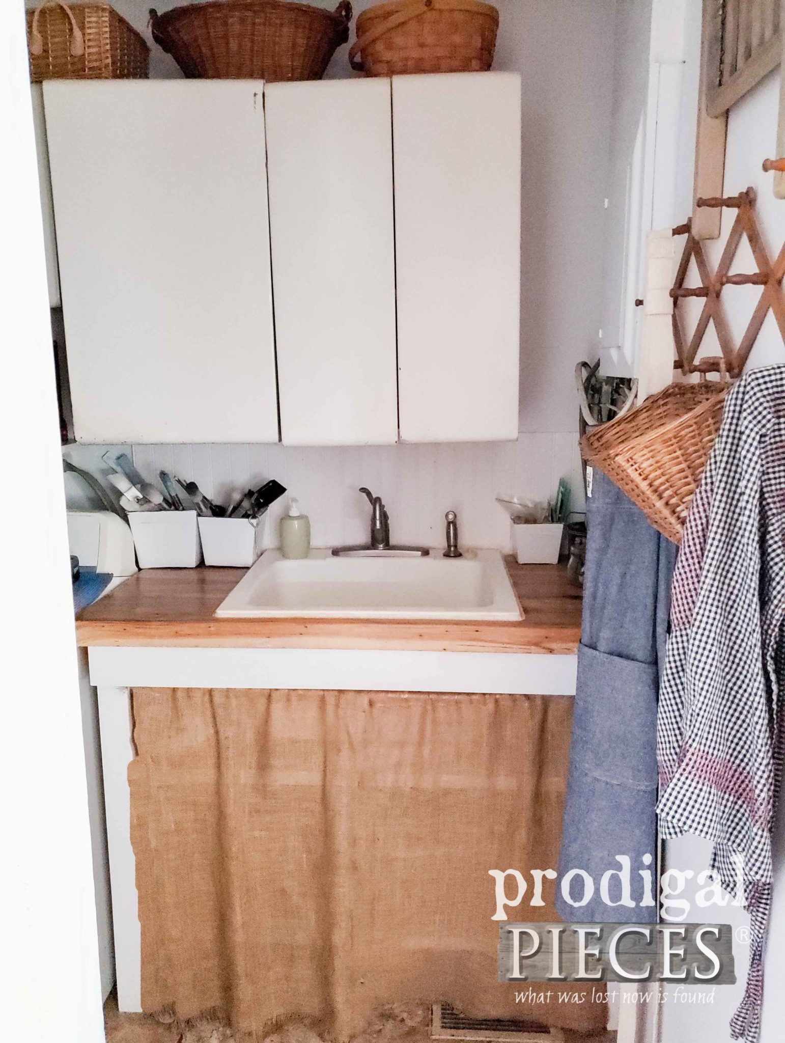 Farmhouse Laundry with Utility Sink | prodigalpieces.com