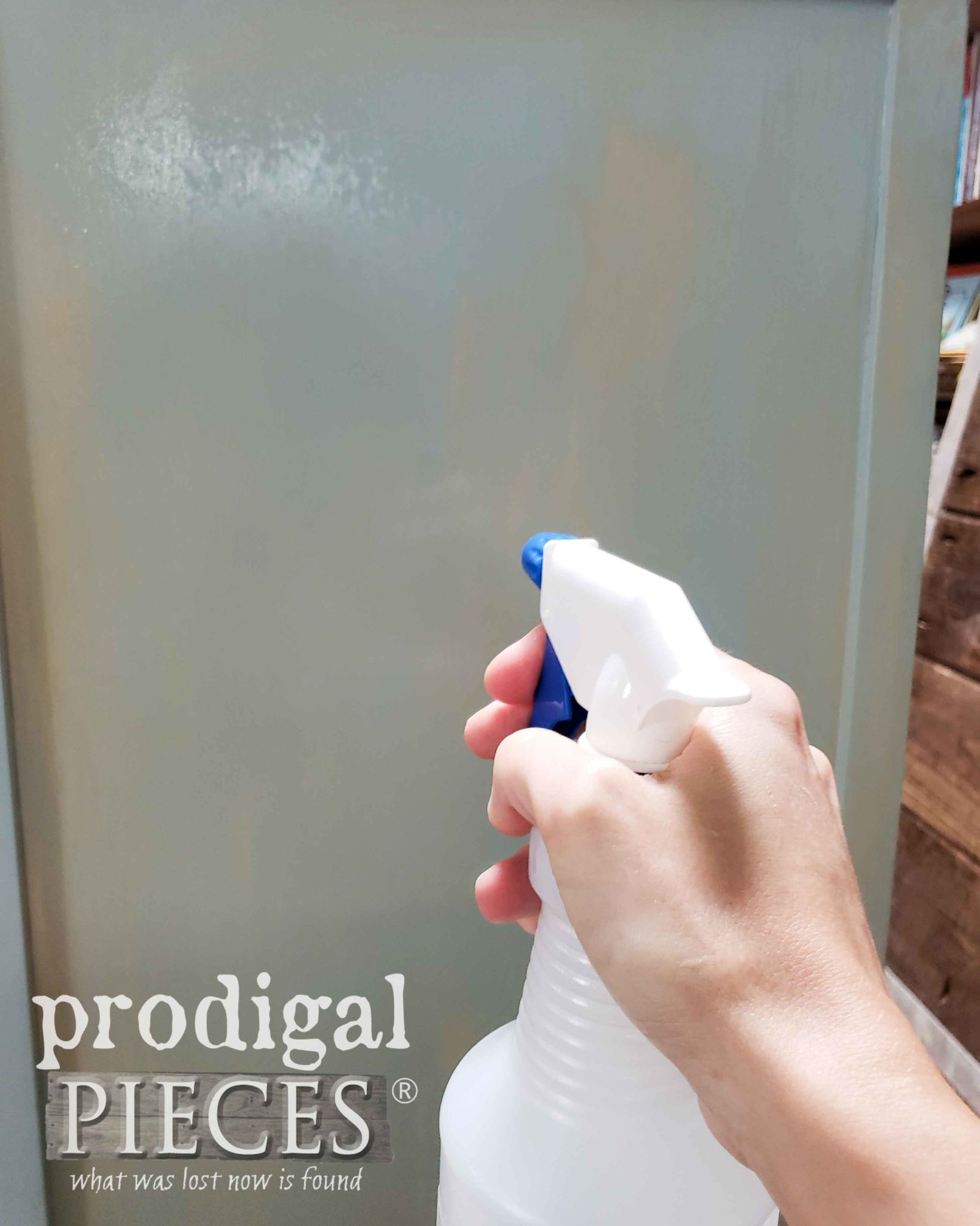 Misting Dresser Paint for Frottage Technique by Prodigal Pieces | prodigalpieces.com