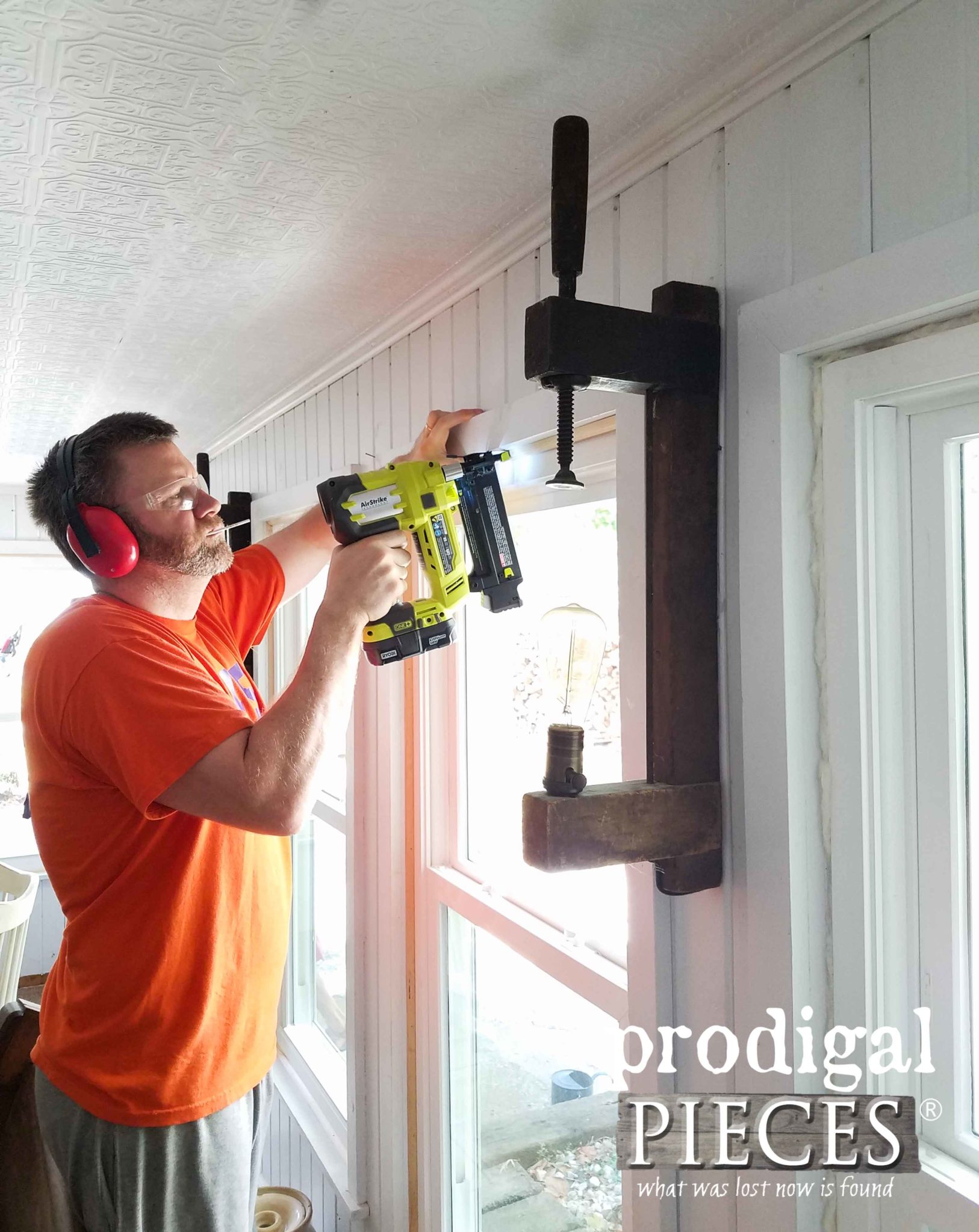 Nailing on Window Trim | prodigalpieces.com