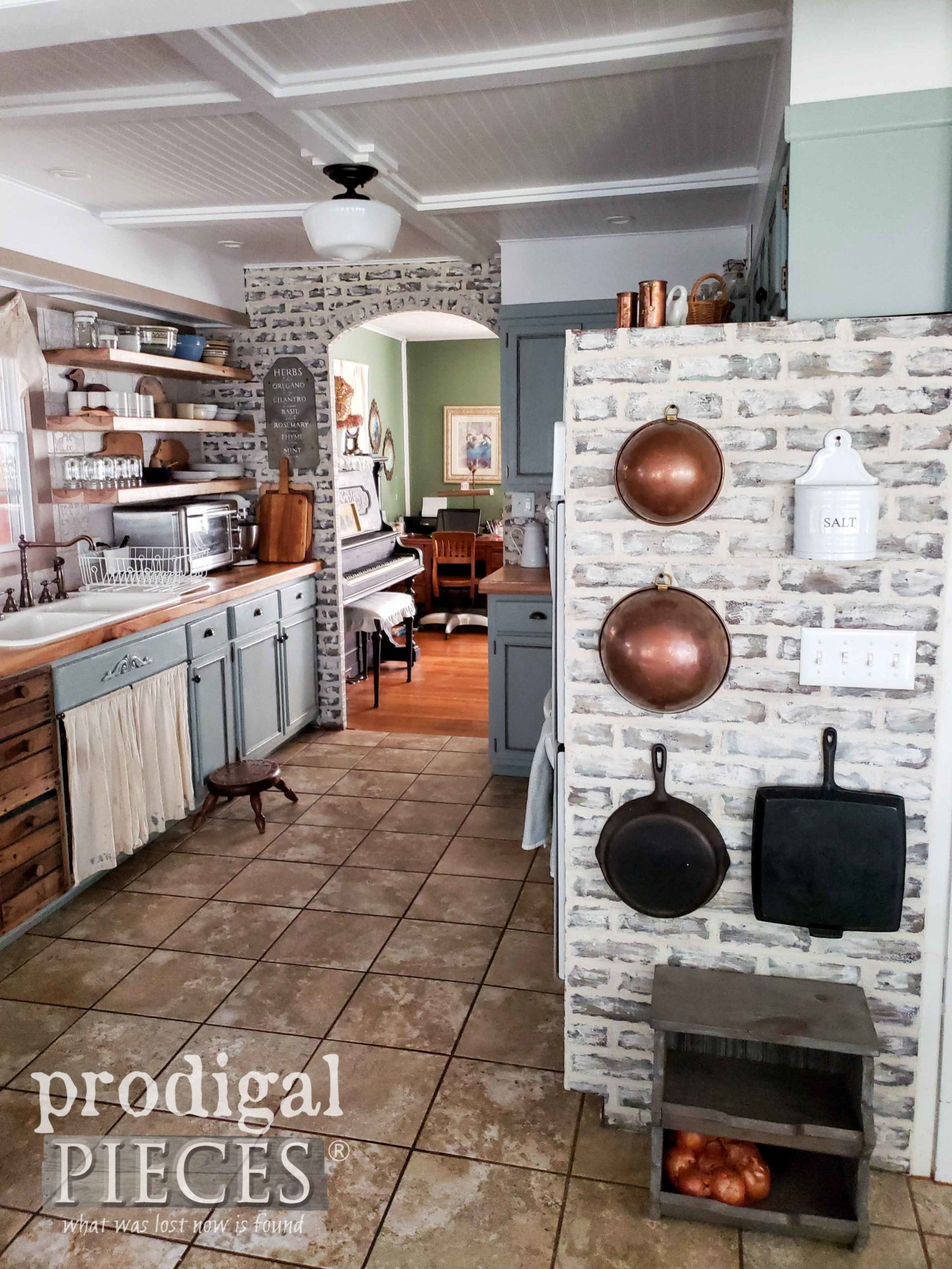 Old World Style Kitchen with Rustic Farmhouse Accents by Prodigal Pieces | prodigalpieces.com