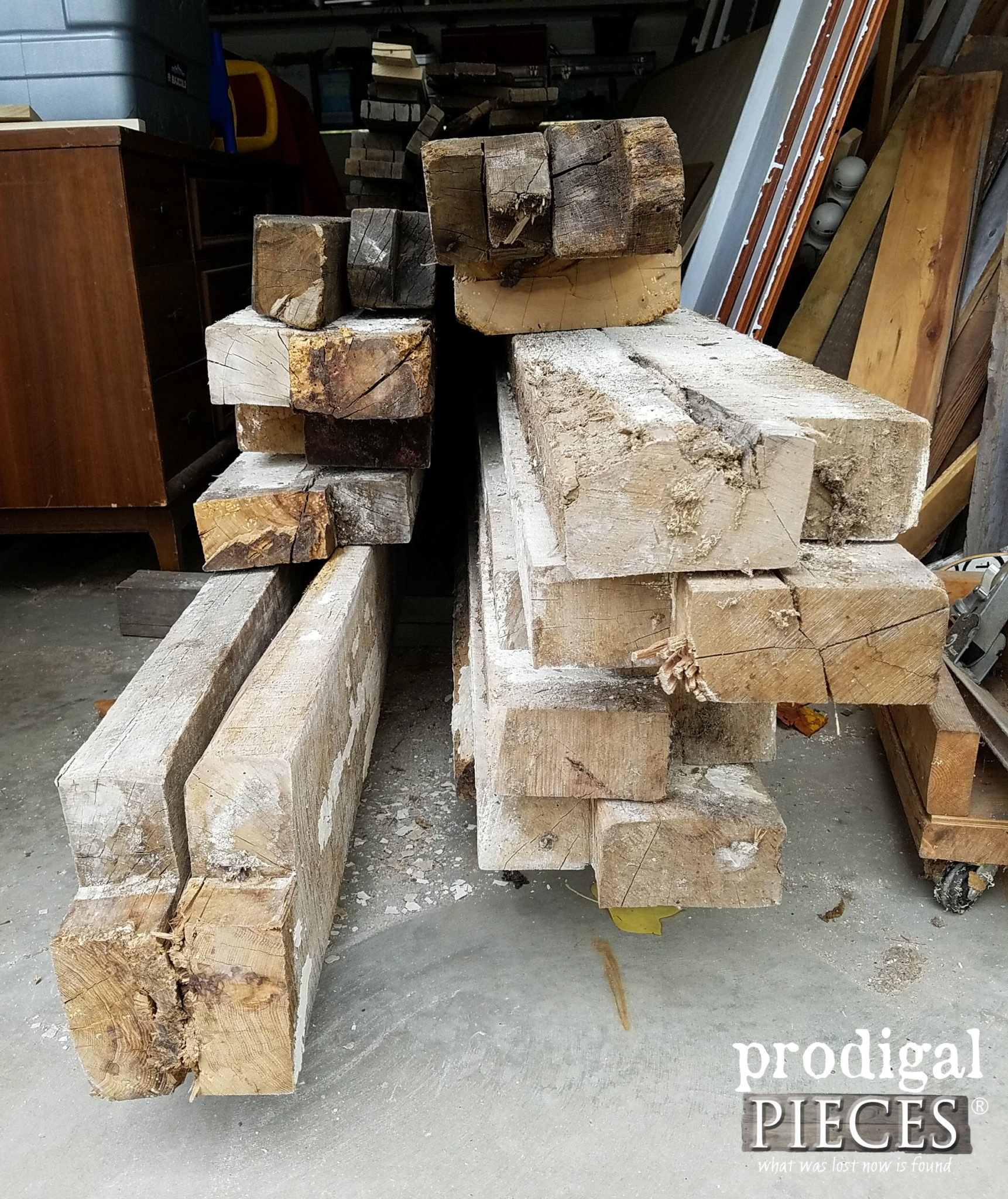 Reclaimed 1800's Hickory Wood for Kitchen | prodigalpieces.com
