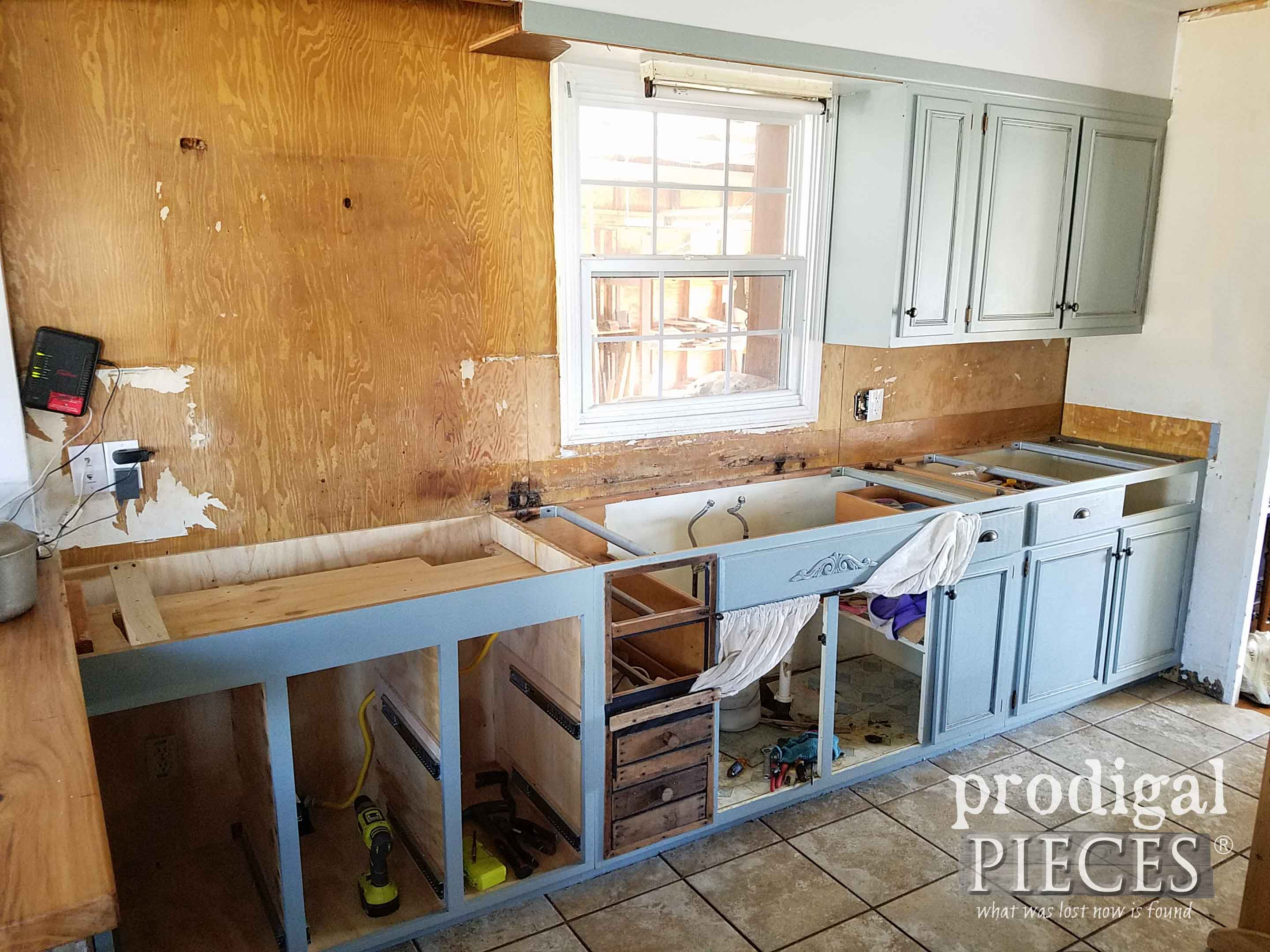 Remodeled Kitchen Cabinet Mess | prodigalpieces.com