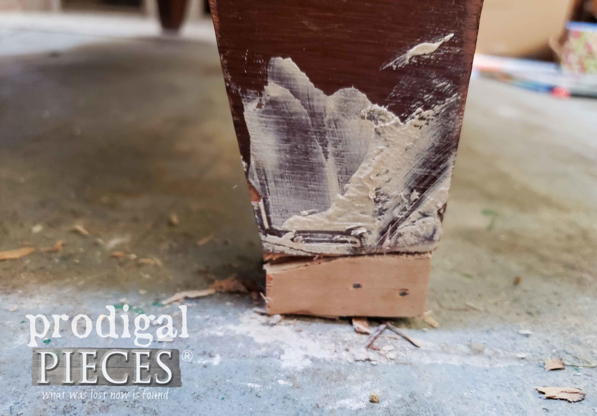 Repaired Dresser Foot | prodigalpieces.com