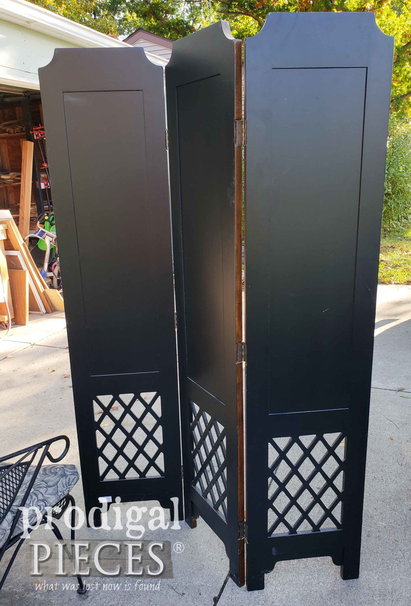 Back of Folding Screen Room Divider | prodigalpieces.com
