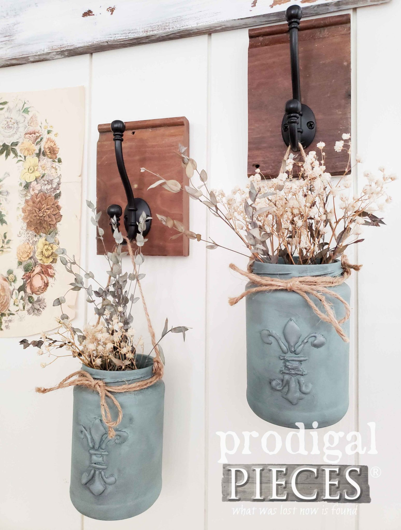 Rustic Chic Jar Hangers Made from Repurposed Finds by Larissa of Prodigal Pieces | prodigalpieces.com