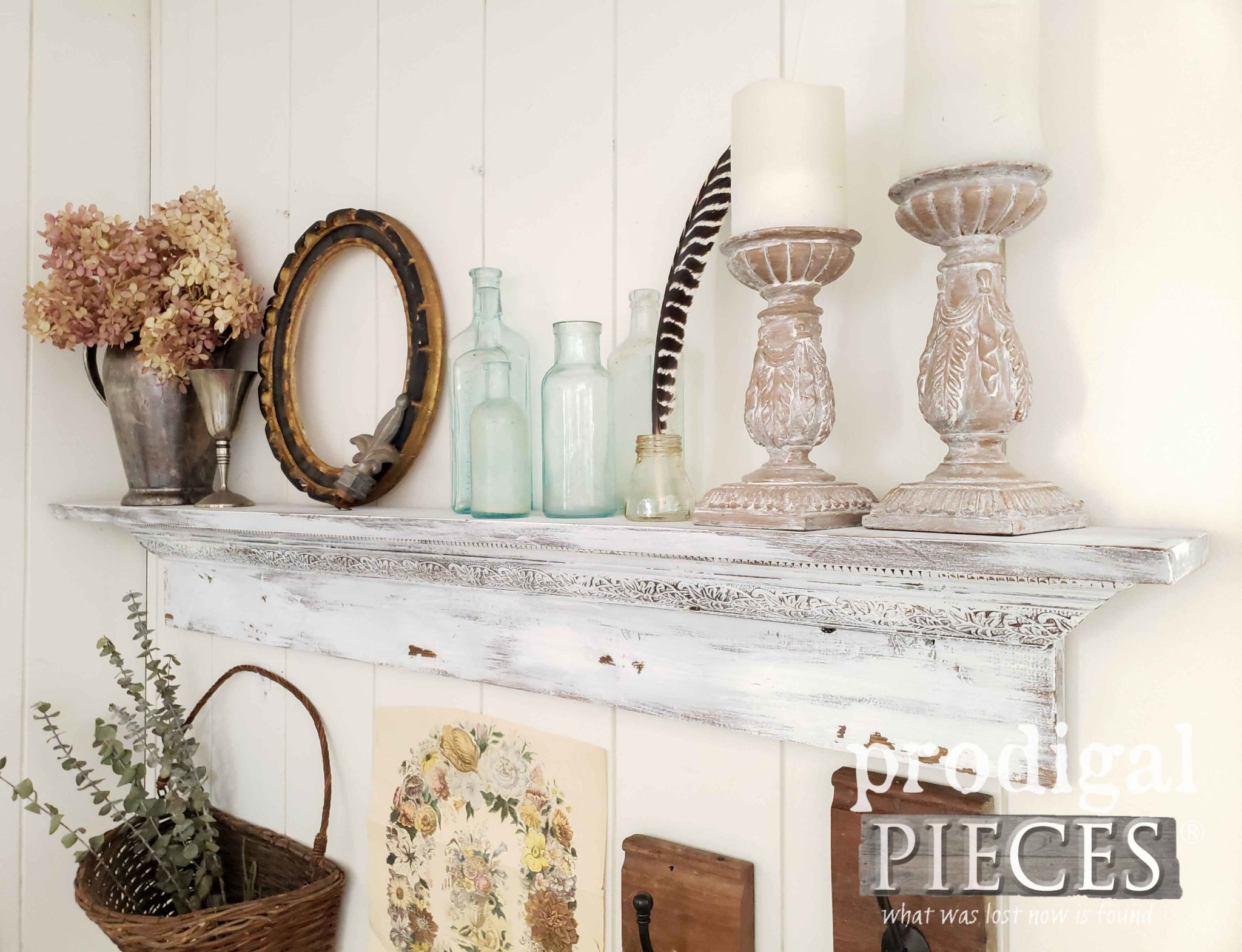 Rustic Chic Mantel Handmade by Larissa of Prodigal Pieces | prodigalpieces.com