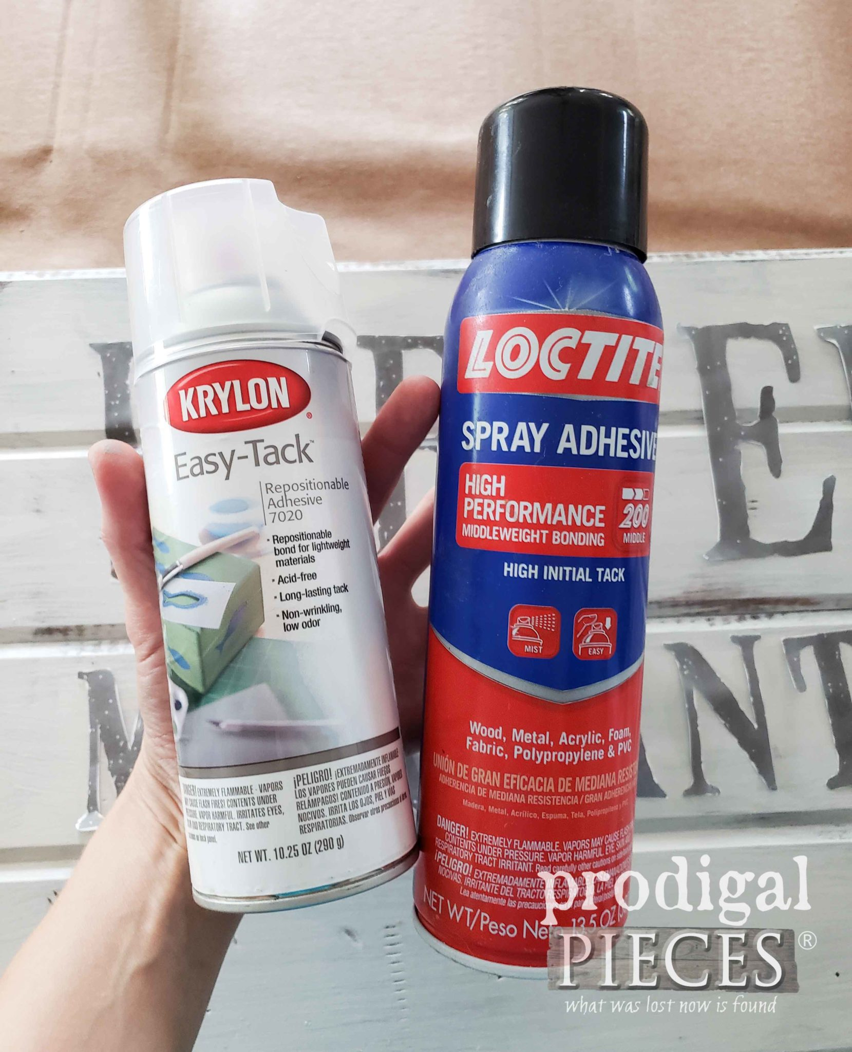 Spray Adhesive for DIY Antique Store Sign by Prodigal Pieces | prodigalpieces.com
