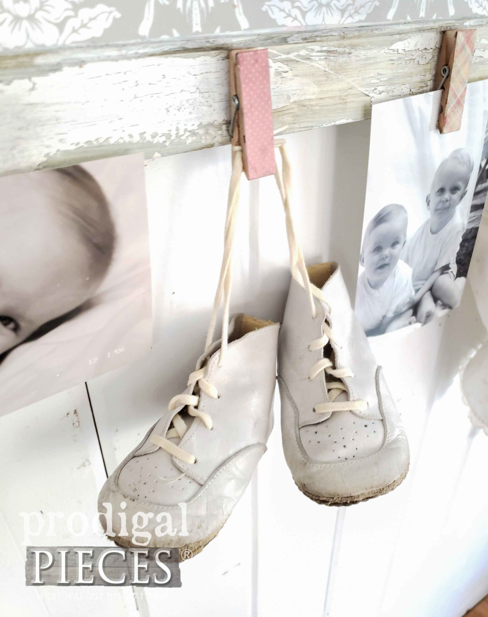 Vintage Baby Walker Shoes in White Leather | Available at Prodigal Pieces | prodigalpieces.com