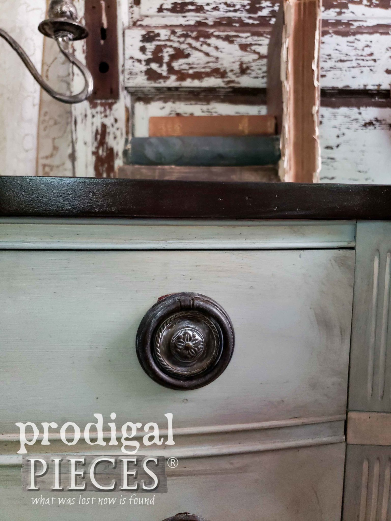 Vintage Dresser with Round Bail Drawer Pulls by Larissa of Prodigal Pieces | prodigalpieces.com