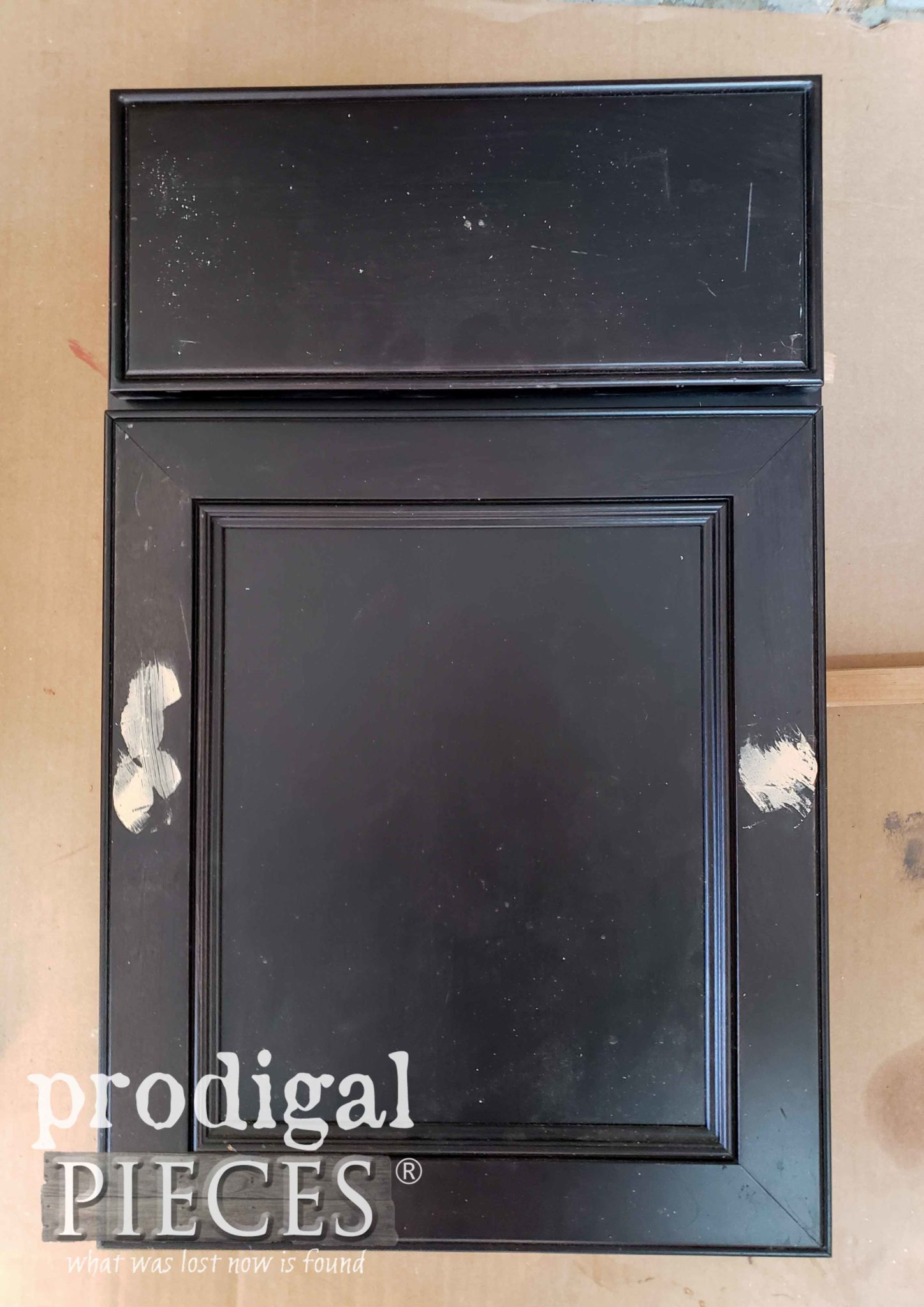 Black Cupboard Sample Before Makeover by Prodigal Pieces | prodigalpieces.com