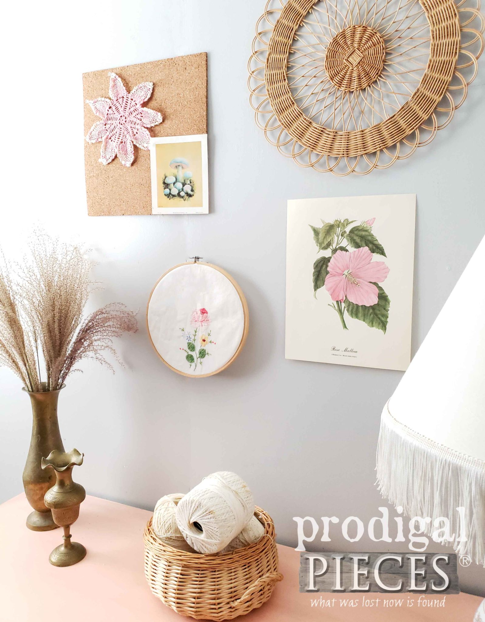Blush Pink Bohemian Style Decor from Thrifted Finds by Prodigal Pieces | prodigalpieces.com