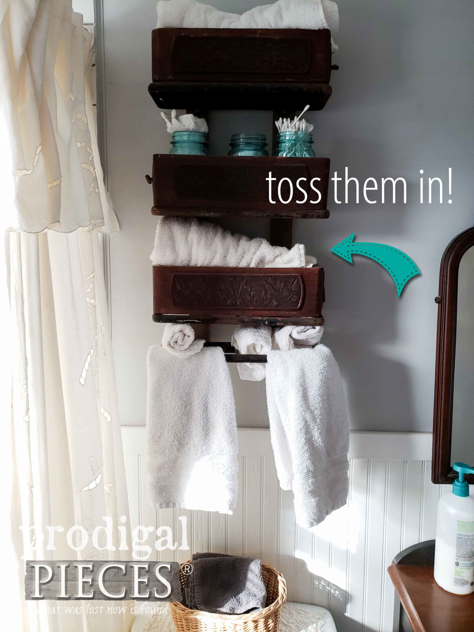Last-Minute Cleaning Tip #2: Toss the linens in for a quick wash. | prodigalpieces.com