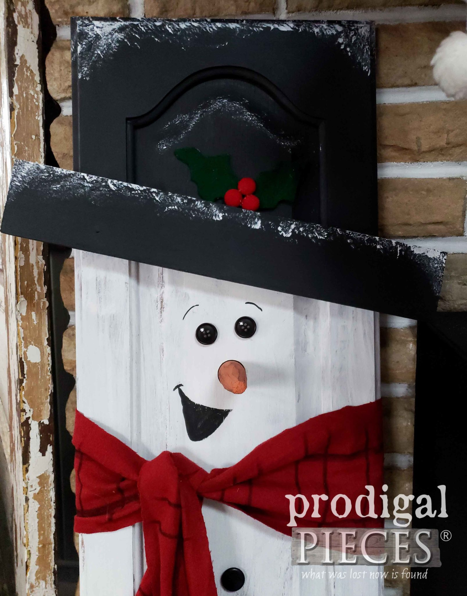 DIY Cupboard Door Snowman Tutorial by Prodigal Pieces Kids Create | prodigalpieces.com