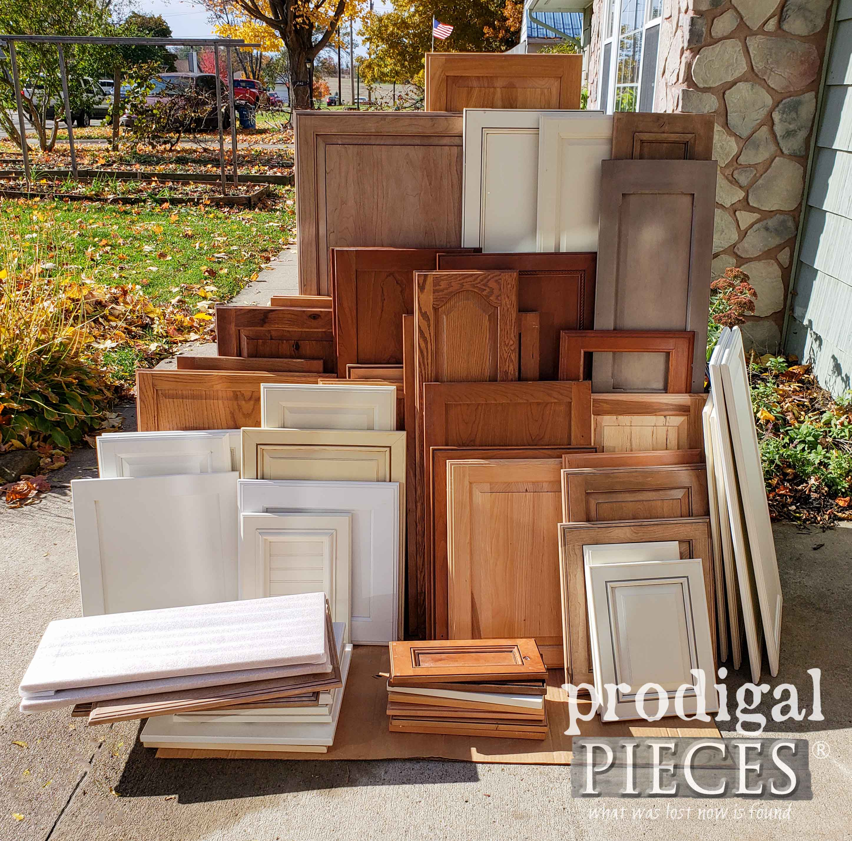 Salvaged Cupboard Door Stash for Upcycling Projects by Larissa of Prodigal Pieces | prodigalpieces.com