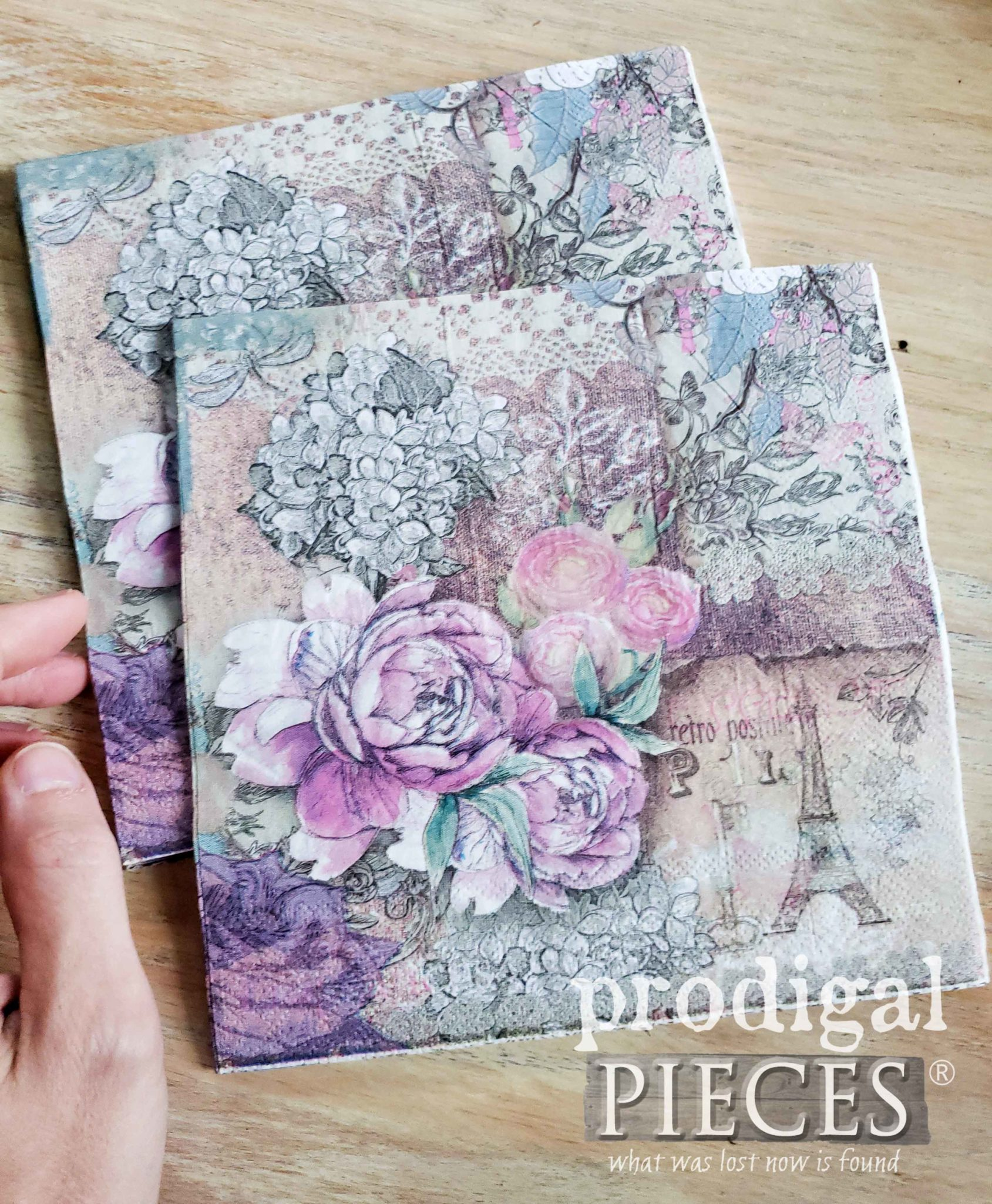 Decorative Napkins for Decoupage Furniture | Prodigal Pieces | prodigalpieces.com