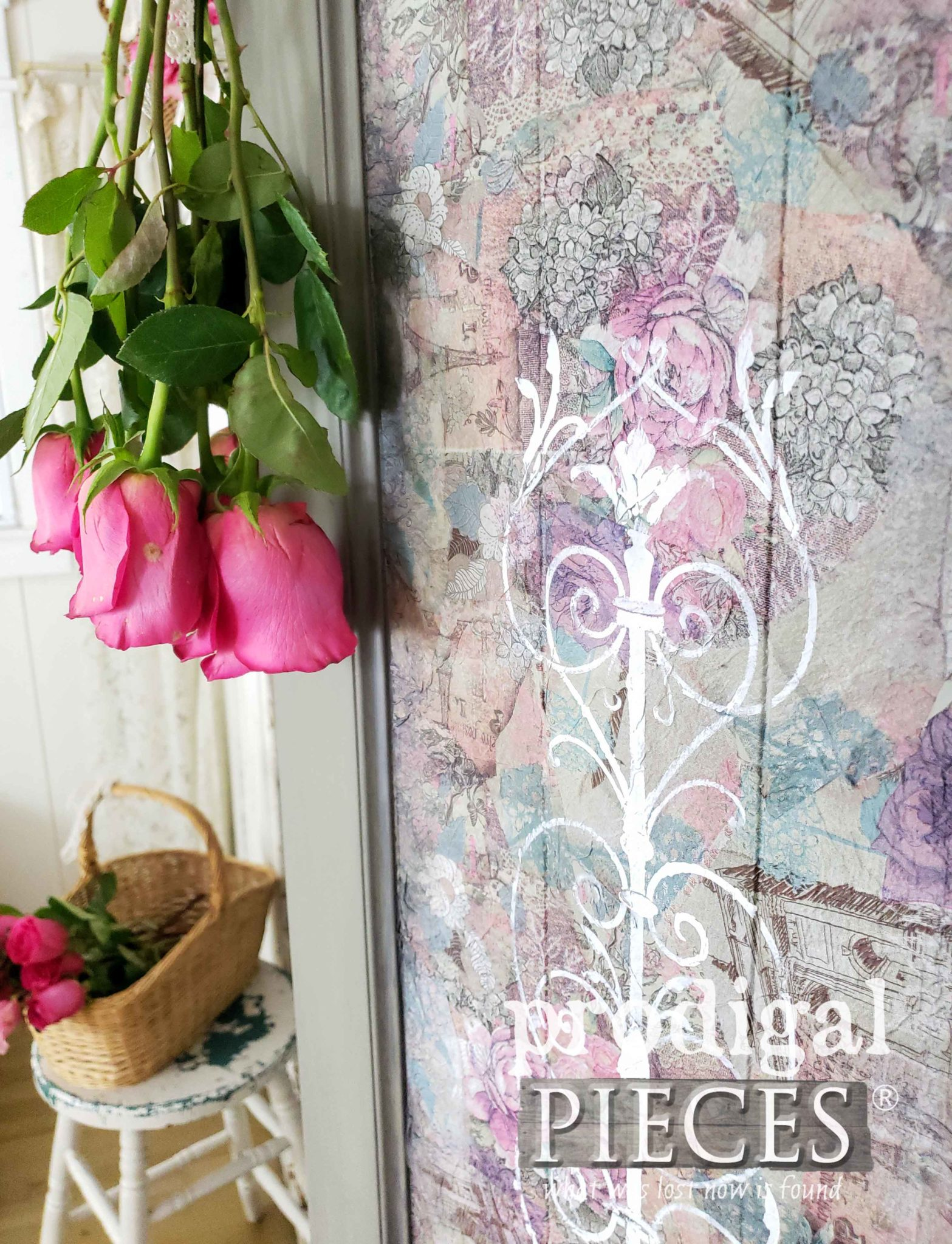 Decoupaged Folding Screen Tutorial by Larissa of Prodigal Pieces | prodigalpieces.com