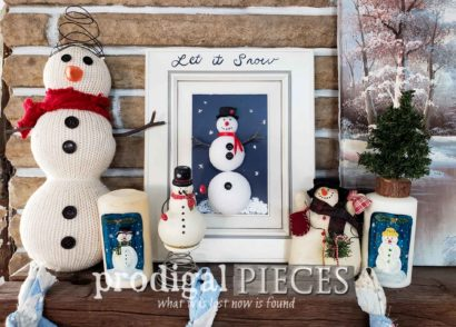 Featured Christmas Cupboard Door Projects for Kids of All ages (even 99!) Video tutorial and free printables by Prodigal Pieces Kids Create | prodigalpieces.com