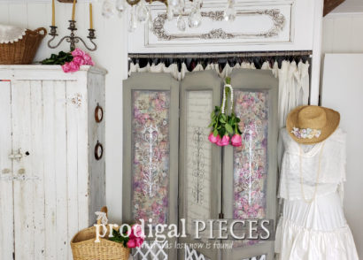Featured Vintage Folding Screen Makeover by Larissa of Prodigal Pieces | prodigalpieces.com