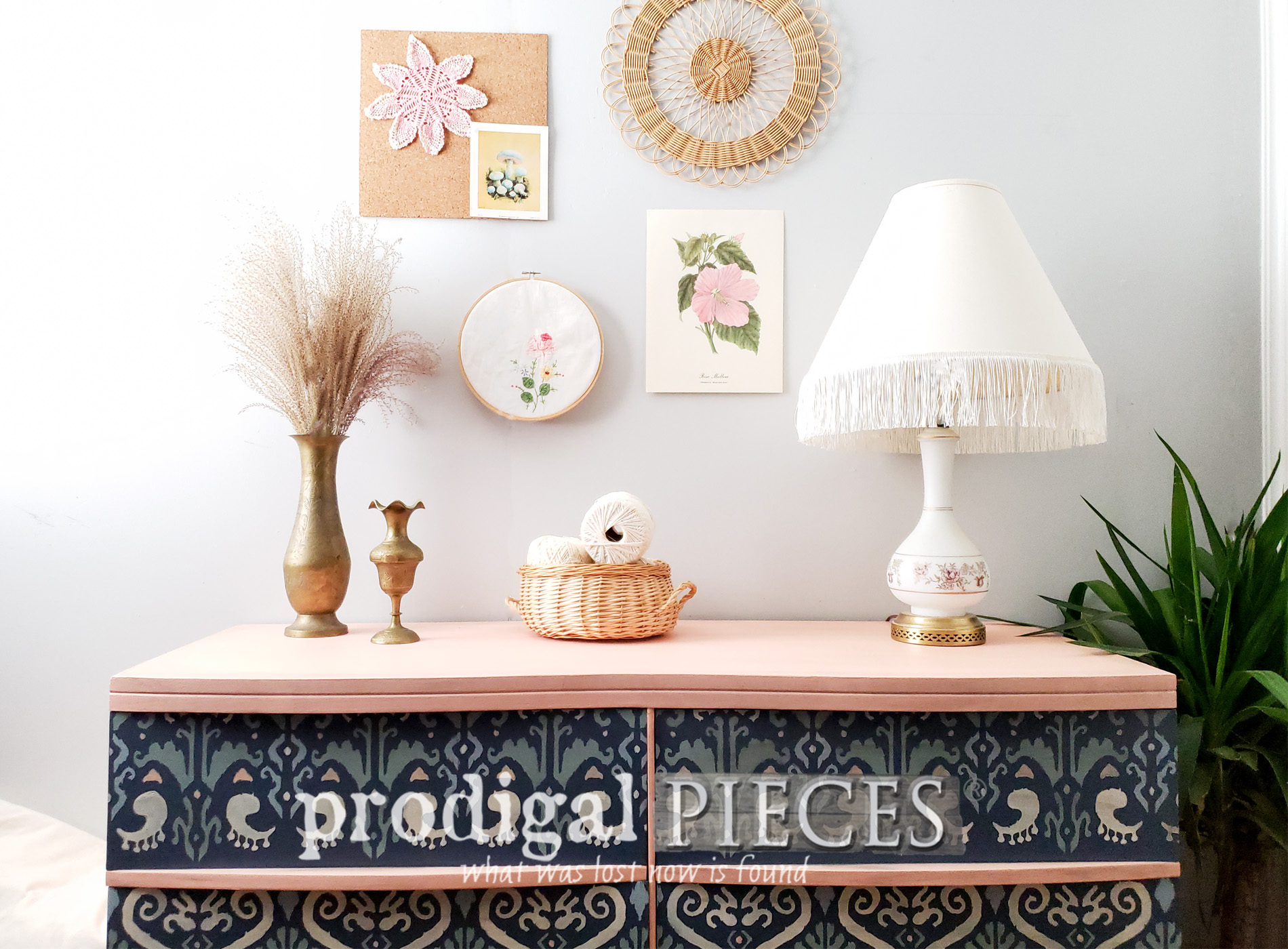 Featured Ikat Mid Century Modern Dresser for Boho Style Decor by Larissa of Prodigal Pieces | prodigalpieces.com