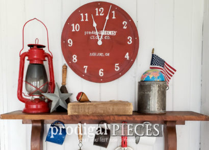 Featured Repurposed Wall Clock from Curbside Tiered Trays by Larissa of Prodigal Pieces | prodigalpieces.com