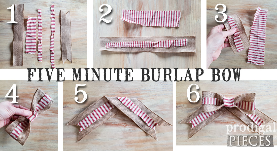 How to Make a Burlap Bow in Five Minutes | Tutorial by Prodigal Pieces | prodigalpieces.com