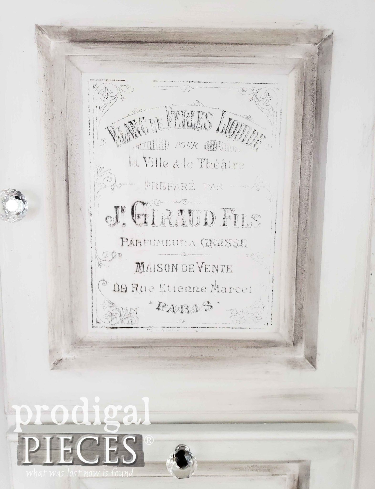 French Typography Jewelry Cabinet by Larissa of Prodigal Pieces | prodigalpieces.com