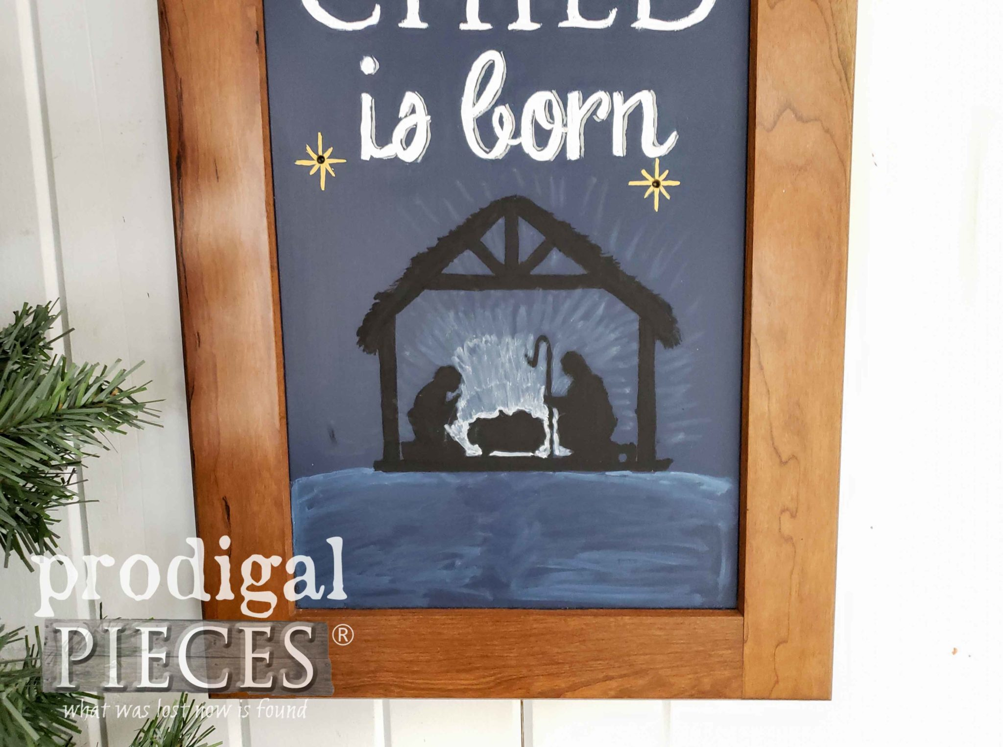Handmade Nativity Wall Art by a Tween | Prodigal Pieces | prodigalpieces.com