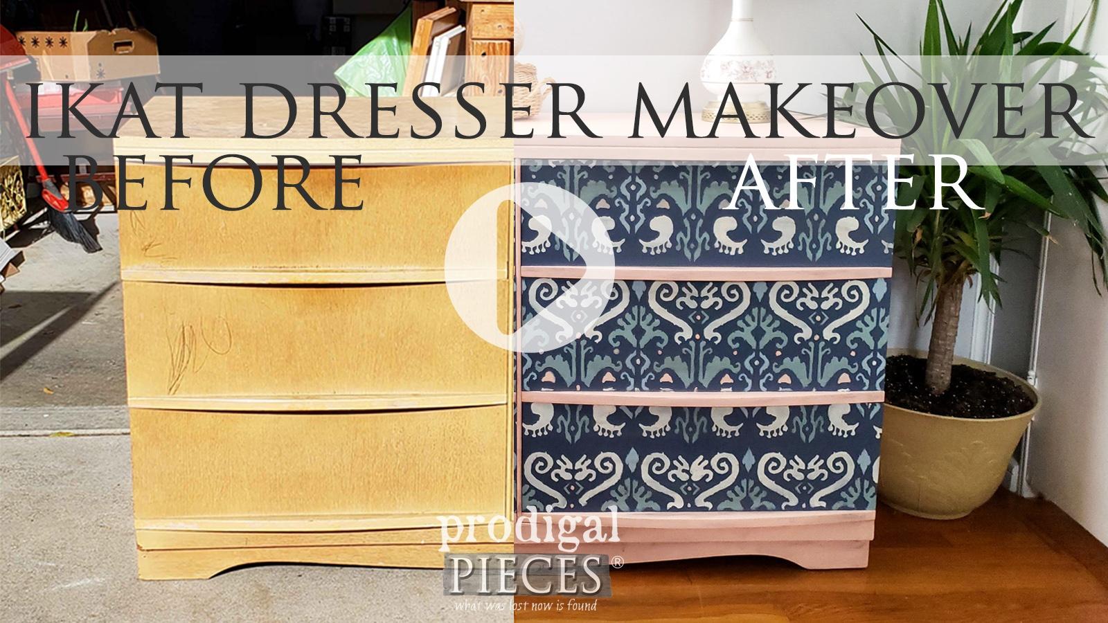 DIY Ikat Dresser Makeover by Larissa of Prodigal Pieces | prodigapieces.com