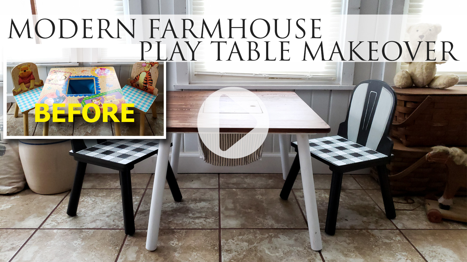 Header DIY Farmhouse Kids Play Table | prodigalpieces.com #prodigalpieces