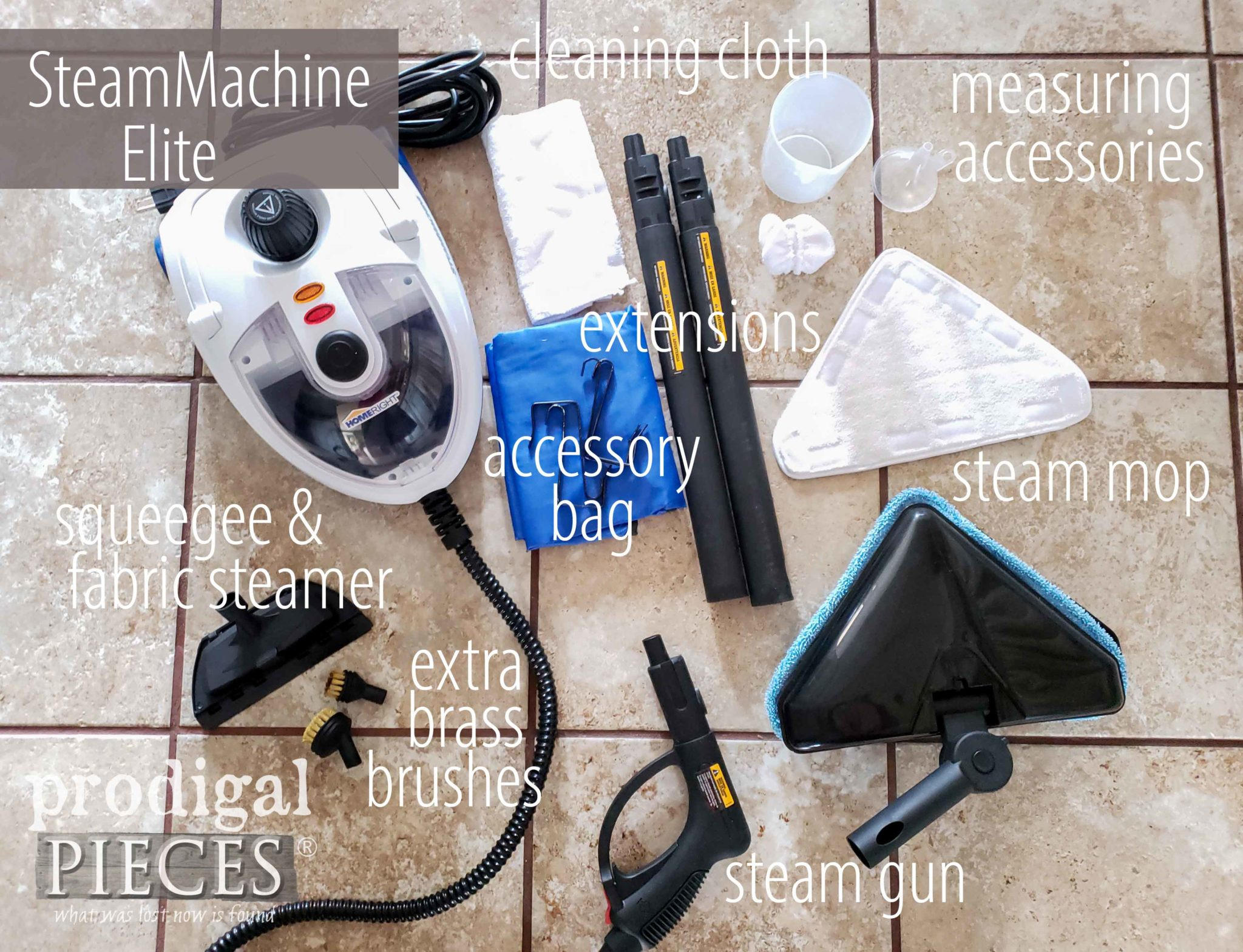Check out the NEW HomeRight SteamMachine Elite with Acessories to tackle any cleaning job chemical free | Details at Prodigal Pieces | prodigalpieces.com