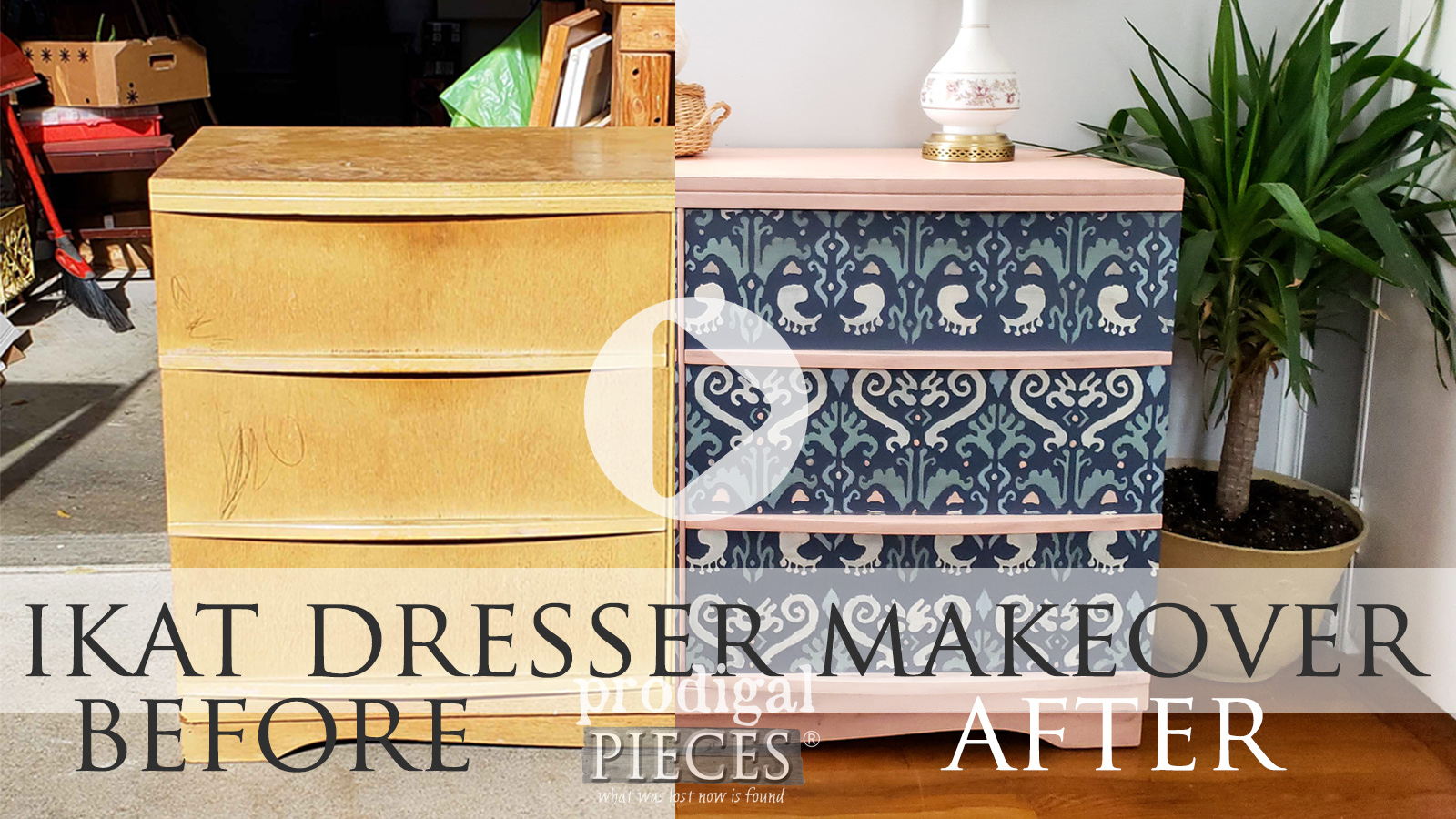 DIY Video Tutorial for an Ikat Dresser Makeover by Larissa of Prodigal Pieces | prodigalpieces.com #prodigalpieces
