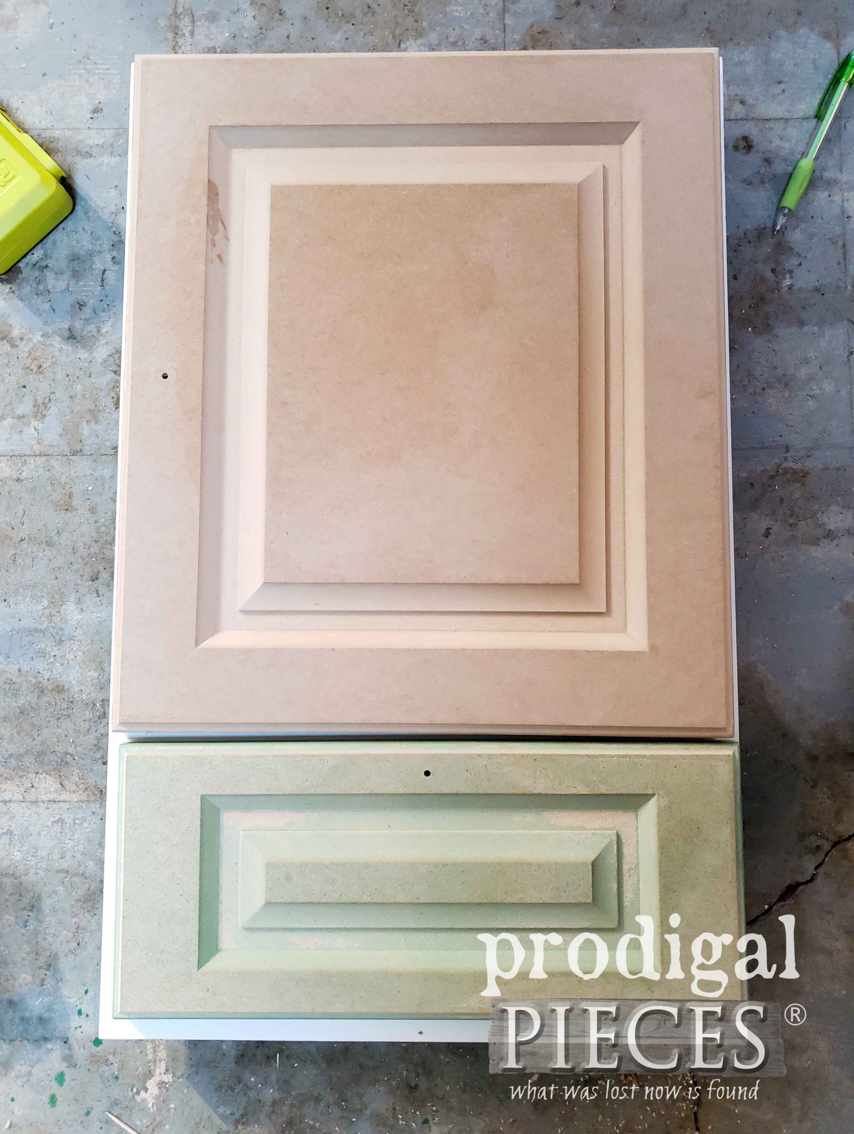 MDF Cupboard Door with Laminate Removed | prodigalpieces.com