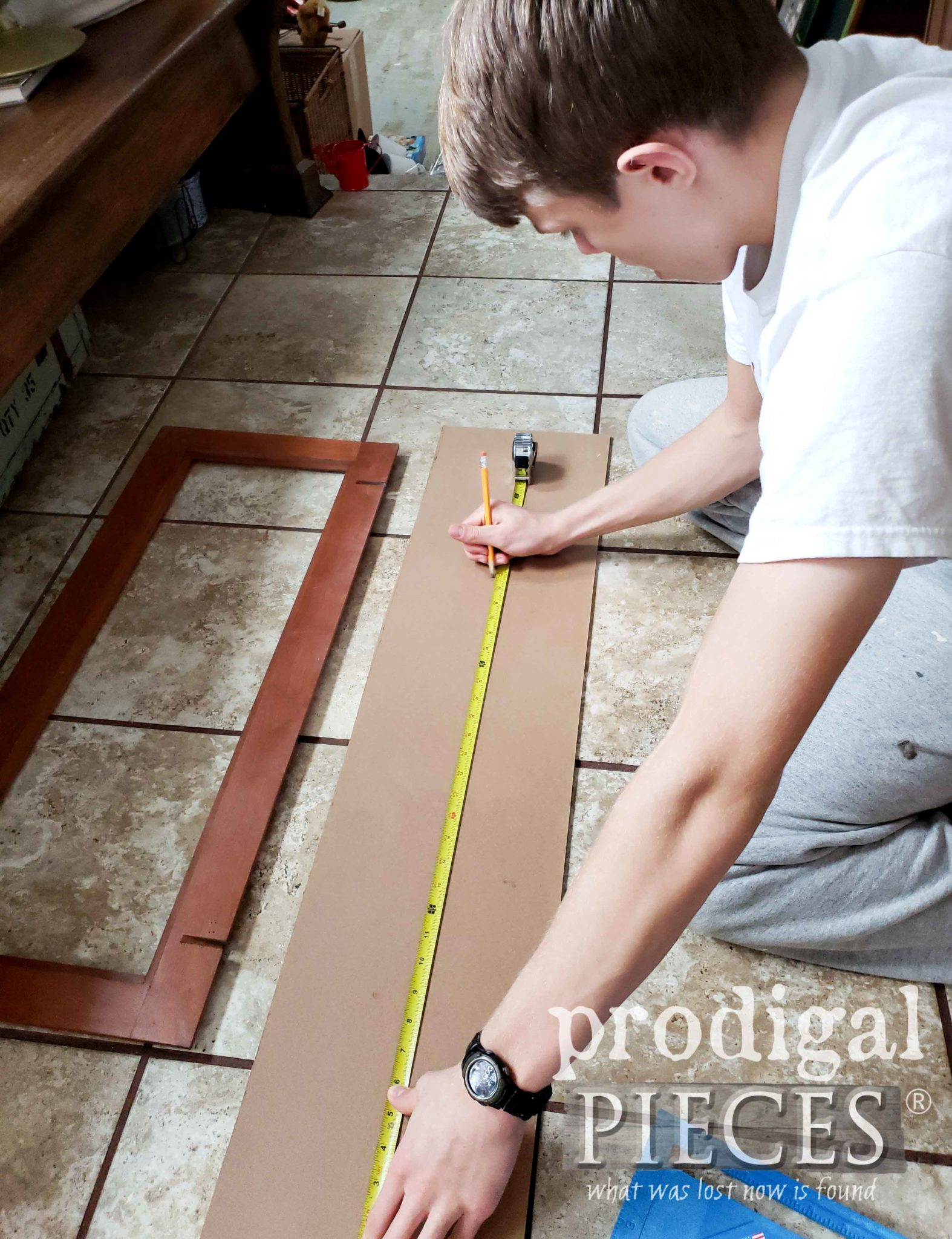 Teen Measuring Beadboard for Project | prodigalpieces.com