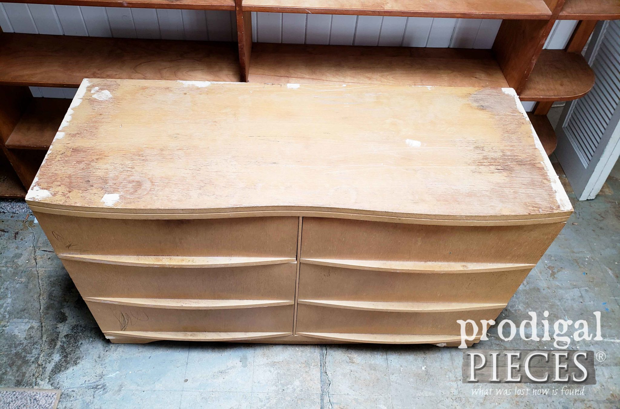 Dresser Top Repaired with Wood Filler | prodigalpieces.com