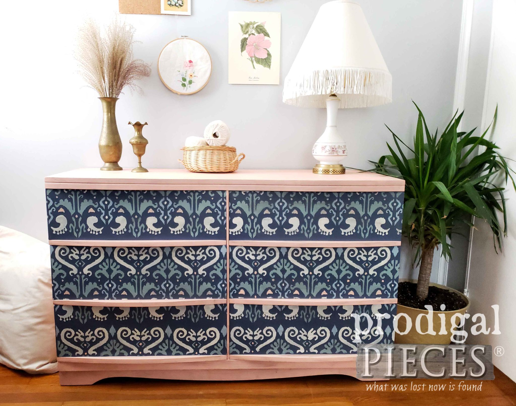 Mid Century Modern Dresser with Boho Style by Larissa of Prodigal Pieces | prodigalpieces.com